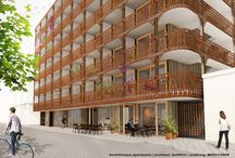Corten steel facade / NorthOrleans | furnished rental apartments are on their way