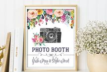 Floral Wedding / Ideas for a floral wedding ceremony. DIY stationary and decoration, dresses for the bride and groom and food.
