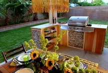 Outdoor kitchen  / by Jeremy Fuller