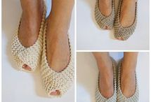 Fibre Craft: Slippers & Sandals / Make your own slippers - patterns and ideas from knitting and crochet, sewing, upcycling flipflops and more.
