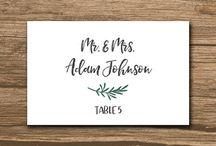 Wedding Place Cards / Wedding place cards and escort cards are the most popular things your guests will take as a souvenir - make sure they are beautiful.