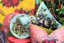 """The Jennifer Lanne Art At Home Collection / We've started making """"essential"""" home goods for Jennifer Lanne fans and collectors. She's the ultimate original! Find these goodies at Schuyler Pond at Scallions, 44 Lake Avenue in Saratoga Springs, NY."""