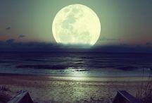 Moon & sunset & sunrise