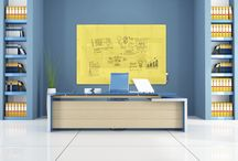 """Harmony GlassBoards / Harmonizing your thoughts has never looked so good. With eight colors and five sizes to choose from, Harmony is a versatile and gorgeous way to brainstorm. Taking today's latest color trends and interior fashions into consideration, we've created the perfect palette of dry-erase boards to choose from. Change the way you think about a """"whiteboard."""""""