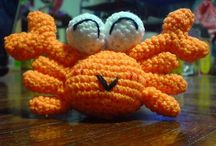 Crochet fish and other sea things