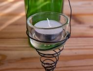 Teelichteinsatz für alte Flasche