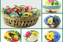 Oua pictate/ Painted Eggs / Oua pictate de Lili Negulescu. Painted Eggs by Lili Negulescu.