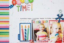 Birthday layouts