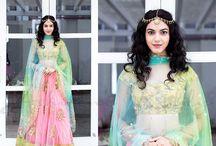Indian wear, bridal lehangas, halfsarees,saris, designer blouses & ghagras by label Ashwini Reddy / Bespoke Bridal & Pret wear.