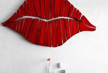 Lips on the wall