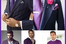 Men's purple fashion