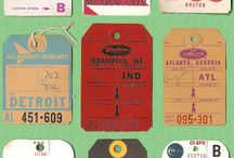 Old-School Airline Luggage Tags / These are when bag tags were art.