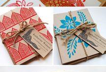 Papeles, tarjetas, cuadernos