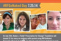 #RFGoNaked Day / #RFGoNaked Day is a social campaign going live on Friday, July 25, 2014 where every no-makeup selfie posted using hashtag #RFGoNaked will equal a $1 donation to buildOn to educate and empower students in need. Our goal is to receive 30,000 selfies which raises $30,000 to build a school. www.rfgonaked.com / by Rodan + Fields