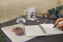 Collection Chats by Bug Art / Retrouvez les chats de Bug Art dans une collection complète de papeterie (notebook A5, A6 & cahiers, stylos, presse-papiers,magnets, porte-clés, miroirs..), d'arts de la table (petits plateaux, mugs, repose-sachets de thé, serviettes en papier, sous-verres & sets de table) et textile (sacs cabas & pochettes)