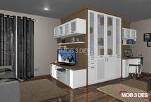 Mobiliario a medida / #diseño de #mobiliario a medida para #salón