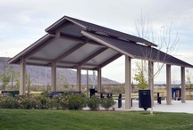 ParkWorks / ParkWorks is your source for site furnishings, picnic shelters, bridges, bleachers, sports goals, fitness equip. and signage.  This board features some of our various products and manufacturers. www.parkworks.ca