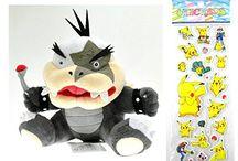 Bowser and Koopa Pushies / Nintendo Super Mario Bowser and Koopa Pushy toys