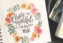 Calligraphy with florals
