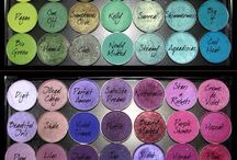 Eyeshadow colors / Eyeshadow/Lidschatten color/Farben