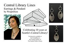 Central Library Lines project / The Central Library Lines project -- a collaboration celebrating the Seattle Central Library's 10th Anniversary, in jewelry form!