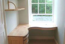 desk in alcove