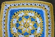Toalha de croche colorida Velvet and Lace...