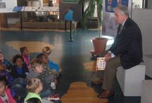 Clara Hearne Pre-K Center Storytime Tour (11-21-2013) / Forty-three Pre-Kindergarten students from Clara Hearne Pre-K Center attended a Storytime Reading Program with Roanoke Rapids Graded School District Superintendent Dr. Dennis Sawyer as Guest Reader at the Roanoke Canal Museum. Students toured the museum and the Roanoke Canal Trail following the reading.