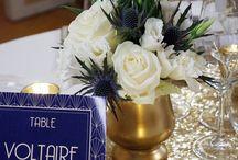 [RÉALISATIONS] Mariage Art Deco - Navy & Gold - Dessine-moi une étoile / Design, Decoration et Papeterie par Dessine-moi une étoile