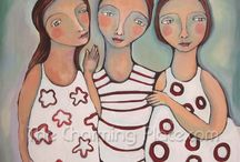 Art: Whimsical folk art