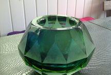 Cut glass vase / Cut glass vase