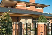 Frank Lloyd Wright Inspiration / Melbourne architect Darren Overend was briefed to design a home, drawing reference to the famous American architect Frank Lloyd Wright. The client's son had studied Wright's work and introduced his parents to his architectural style.