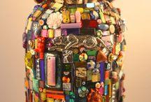 Jarrones en mosaico