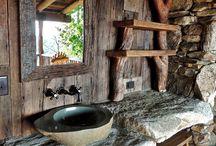 Salle de bain cabane