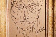 Eddine portrait ... / Portrait d'Eddine R. Penseur au visage triste