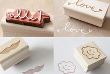 Hand Crafted Wooden Stamps / Made to order, use with a traditional ink pad. Hand crafted wooden handle. Custom design.