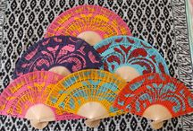 Wedding Fans / Hand painted Fans, wood - paper or Sandal great ideal for your special Event!