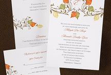 Fall Wedding Invitations and Supplies / Looking for fall wedding ideas? This board features some of our fall theme wedding invitations, favors and wedding items with an autumn flair!