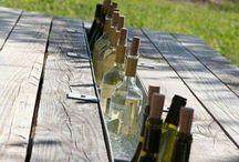 wijn cooler in tafel