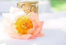 Hochzeit pfirsich, gold & magenta