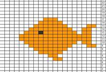 Kala ruutumalleja neulontaan