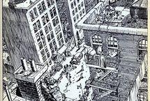 перспектива города