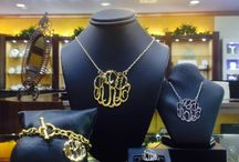 Monogram Shop at Arden's / Monogram Jewelry-- Bracelets, Necklaces, Rings, Earrings, and Men's Cufflinks all available in Silver, Yellow Gold, or White Gold!