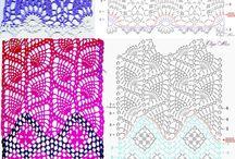 かぎ編みでの模様の編み方