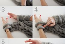 knitting on arm