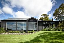 Flinders - Custom Renovation / This contemporary take on a traditional farm house in Flinders was a custom renovation by Canny Architecture. The moody interiors deliver a unique composition of textures and colours to take this country home to the next level in style and sophistication. http://www.canny.com.au/portfolio/flinders-2/
