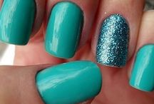 Teal nails, etc