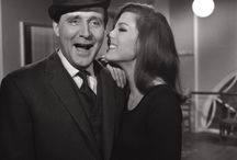 Steed and Mrs. Peel / The Avengers: Patrick Macnee as John Steed and Diana Rigg as Mrs. Emma Peel.   / by Katherine Kehoe
