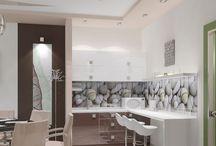 Дизайн интерьера офиса медицинской клиники в современном стиле / Пожелания заказчика: создать дизайн интерьера офиса медицинской клиники в современном стиле по последнему слову техники и современных технологий.