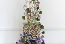 Stained Glass Wedding Cakes